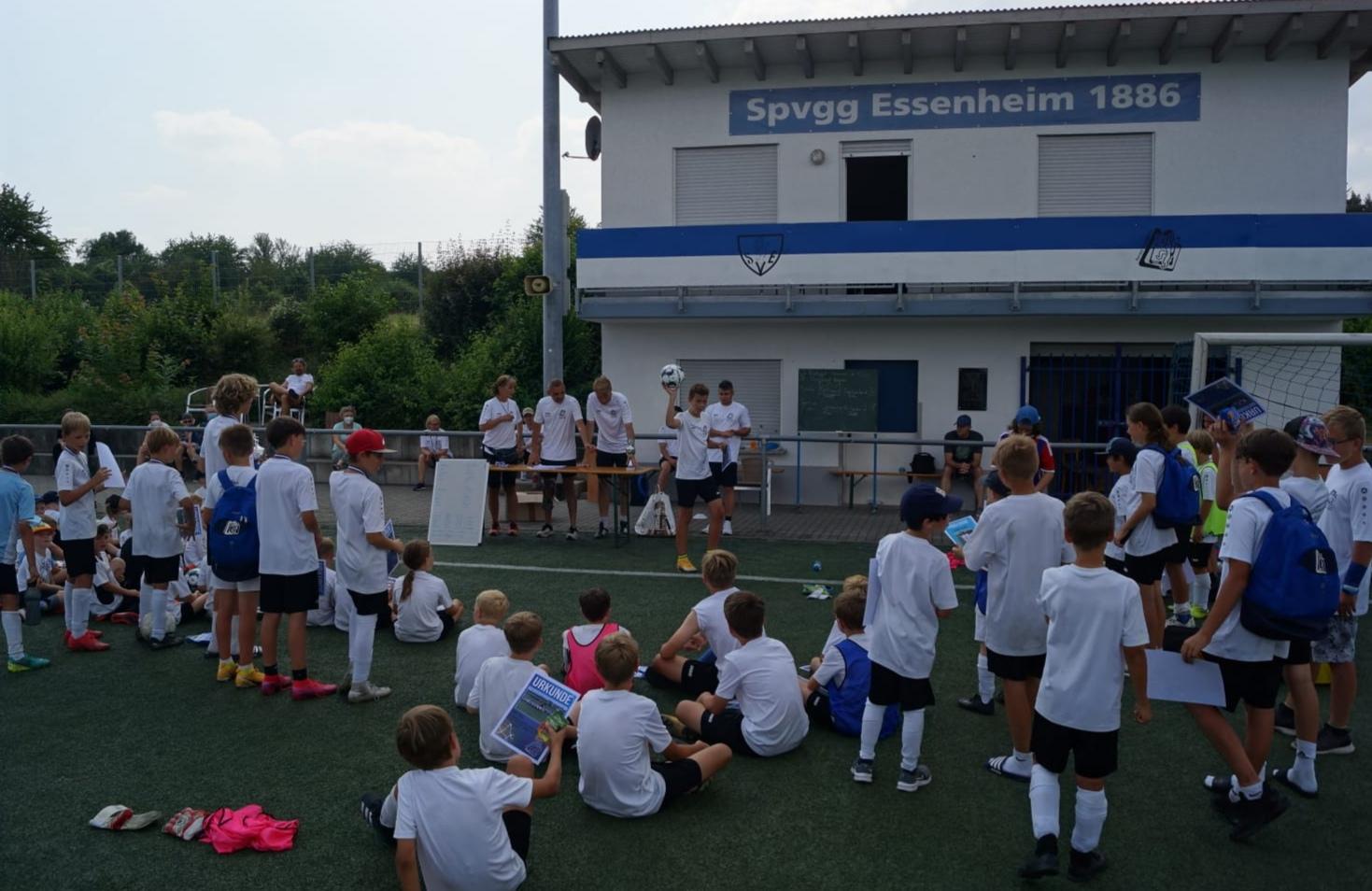 Kids im Fußballcamp- da ging die Post ab